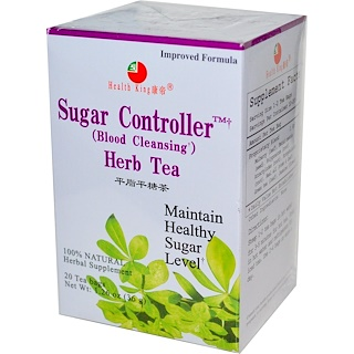 Health King, Sugar Controller (Blood Cleansing) Herb Tea, 20 Tea Bags 1.26 oz (36 g)