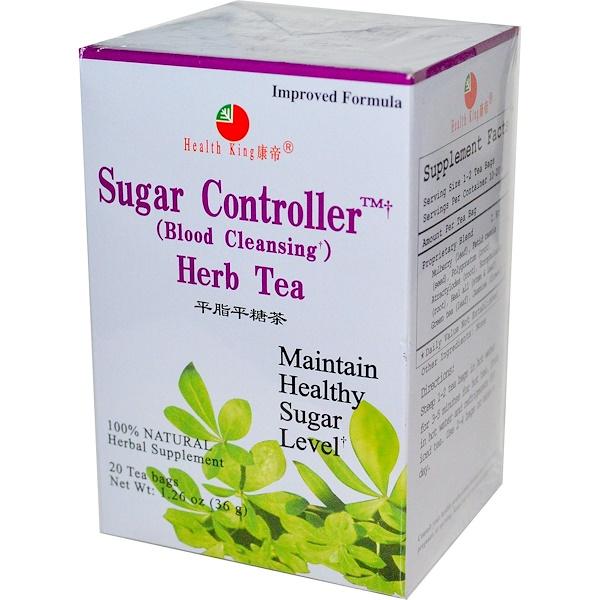 Health King, Sugar Controller (Blood Cleansing) Herb Tea, 20 Tea Bags 1.26 oz (36 g)