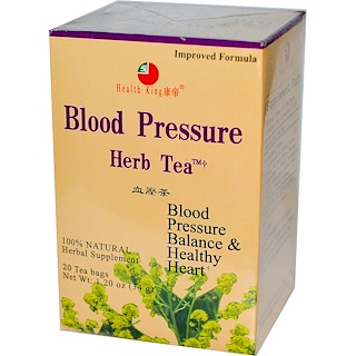Health King, Blood Pressure Herb Tea, 20 Tea Bags, 1.20 oz (34 g)