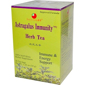 Health King, Травяной чай для иммунитета с астрагалом, 20 пакетиков, 34 г