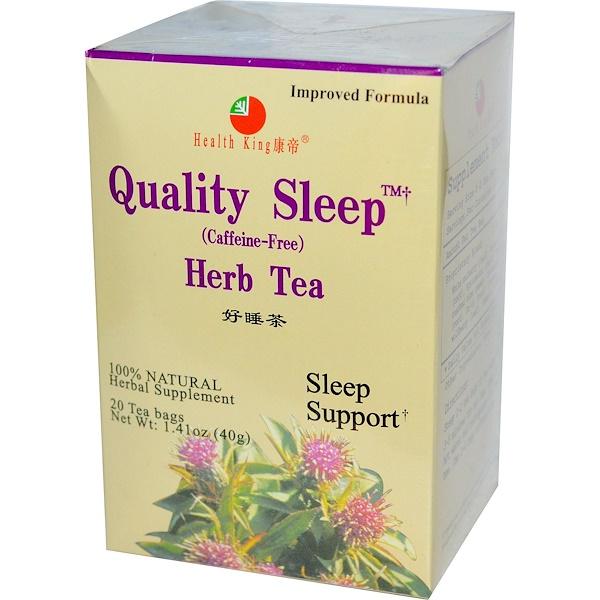 Health King, 有助睡眠,花草茶,不含咖啡因,1、41盎司(40克),20包