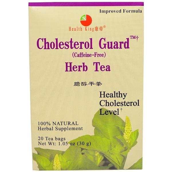 Health King, 膽固醇衛士花草茶,不含咖啡因,1、05盎司(30克),20包