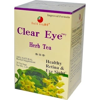 Health King, Clear Eye Herb Tea, 20 Tea Bags, 1.20 oz (34 g)
