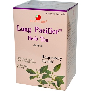 Health King, Lung Pacifier Herb Tea, 20 Tea Bags, 1.05 oz (30 g)