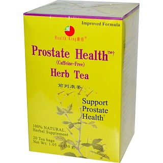 Health King, Prostate Health Herb Tea, Caffeine-Free, 20 Tea Bags, 1.05 oz (30 g)