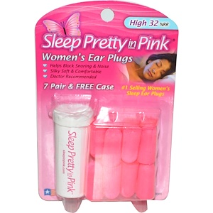 Хирос, Sleep Pretty in Pink, Women's Ear Plugs, High 32 NRR, 7 Pair & Free Case отзывы покупателей