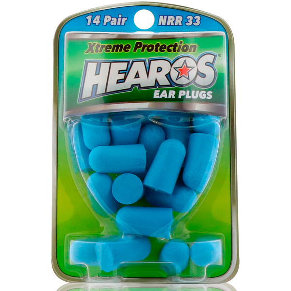 Hearos, Ear Plugs, Xtreme Protection, 14 Pair