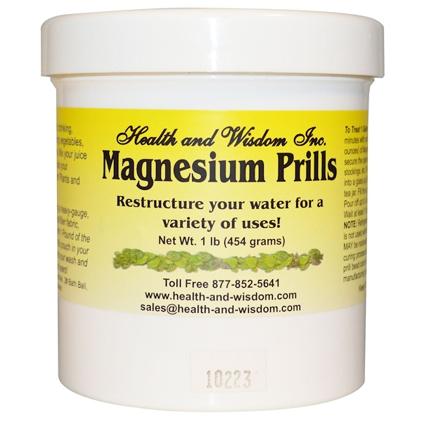 Health and Wisdom Inc., Magnesium Prills, 1 lb (454 g) (Discontinued Item)
