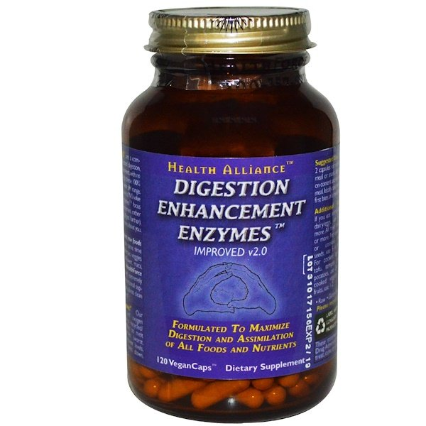 HealthForce Superfoods, Digestion Enhancement Enzymes, 120 VeganCaps