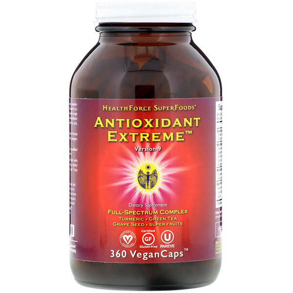 HealthForce Superfoods, Antioxidant Extreme, Version 9, 360 VeganCaps