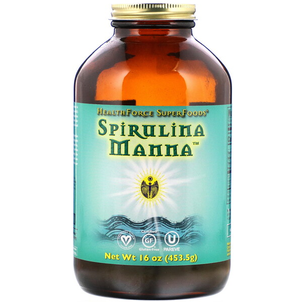 HealthForce Superfoods, Spirulina Manna, 16 oz (453.5 g)
