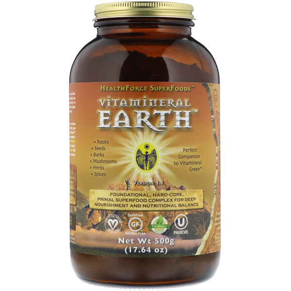 HealthForce Superfoods, ビタミネラル アース V.3.2、17.65 oz (500 g)