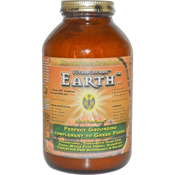 HealthForce Superfoods, Vitamineral Earth, V. 3.2, 300 g (Discontinued Item)