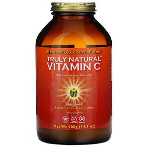 ХэлсФорс Нутришналс, Truly Natural Vitamin C, 14.1 oz (400 g) отзывы