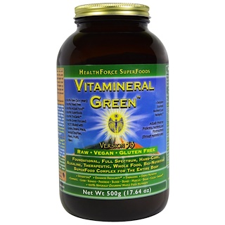 HealthForce Superfoods, Vitamineral Green, Version 5.3, 17.64 oz (500 g)