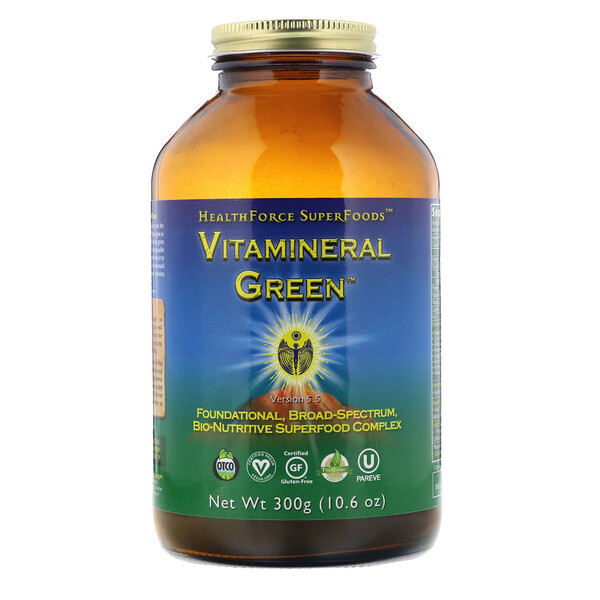 HealthForce Superfoods, Vitamineral Green, Version 5.5, 10.6 oz (300 g)