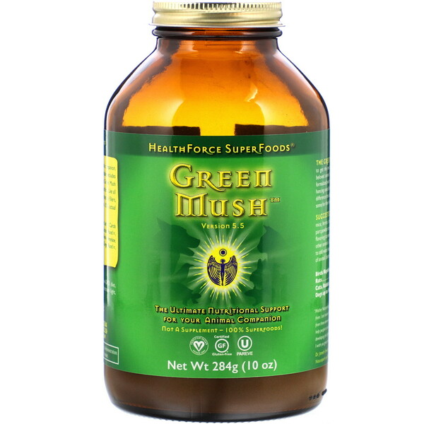 HealthForce Superfoods, Green Mush, Version 5.5, 10 oz (284 g)
