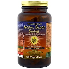 HealthForce Superfoods, Nopal Blood Sugar, 180 Veggie Caps