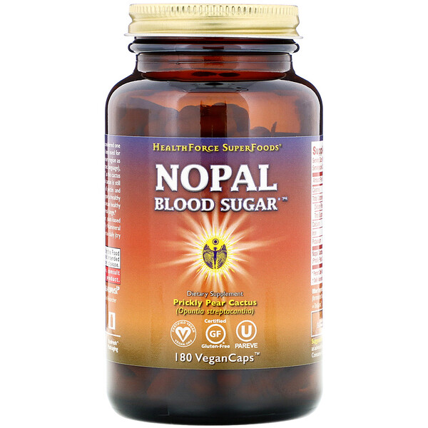 HealthForce Superfoods, Nopal Blood Sugar, 180 VeganCaps