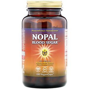 ХэлсФорс Нутришналс, Nopal Blood Sugar, 180 VeganCaps отзывы покупателей