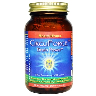 HealthForce Superfoods, CircuForce, Brain Power, 90 Vegan Caps
