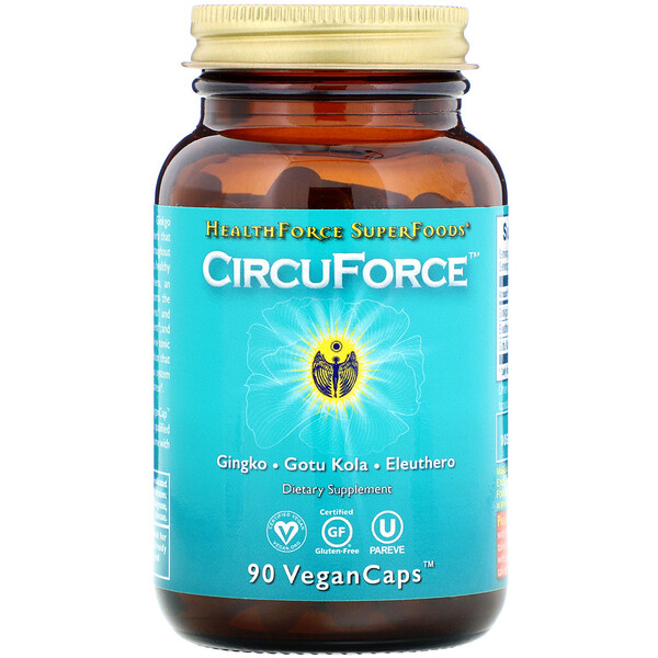 HealthForce Superfoods, CircuForce, 90 Vegan Caps