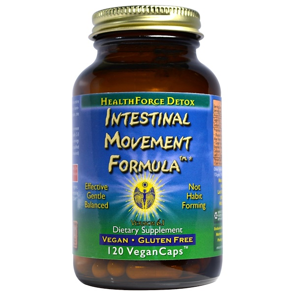 HealthForce Superfoods, Intestinal Movement Formula, 120 веганских капсул (Discontinued Item)