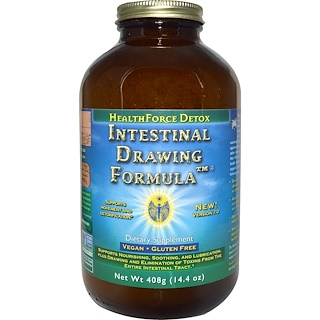 HealthForce Nutritionals, Intestinal Drawing Formula Power、バージョン6、 14.4 オンス (408 g)