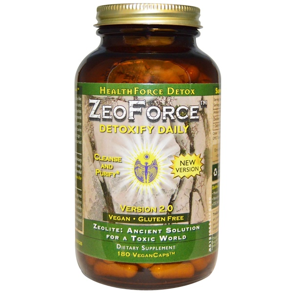 HealthForce Superfoods, ZeoForce, Detoxify Daily, Version 2.0, 180 Vegan Caps (Discontinued Item)