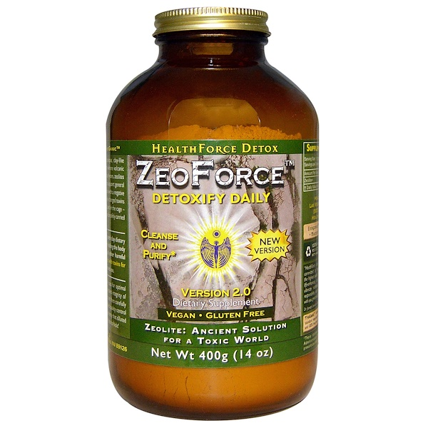 HealthForce Superfoods, ゼロフォース(ZeoForce), 毎日の解毒, 14オンス(400 g) (Discontinued Item)