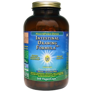 HealthForce Superfoods, Intestinal Drawing Formula, 260 Vegan Caps