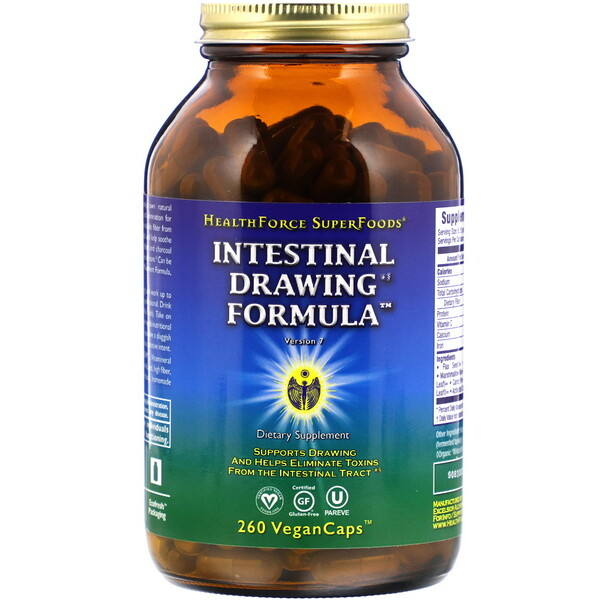 Intestinal Drawing Formula, 260 Vegan Caps