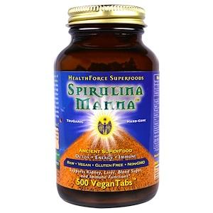 ХэлсФорс Нутришналс, Spirulina Manna, 500 VeganTabs отзывы