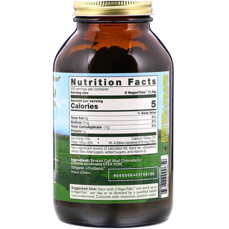 HealthForce Superfoods, Chlorella Manna, 1200 VeganTabs - photo 1