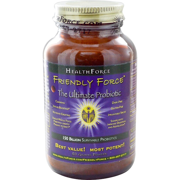 HealthForce Superfoods, Friendly Force, The Ultimate Probiotic Powder, 80 g (Discontinued Item)