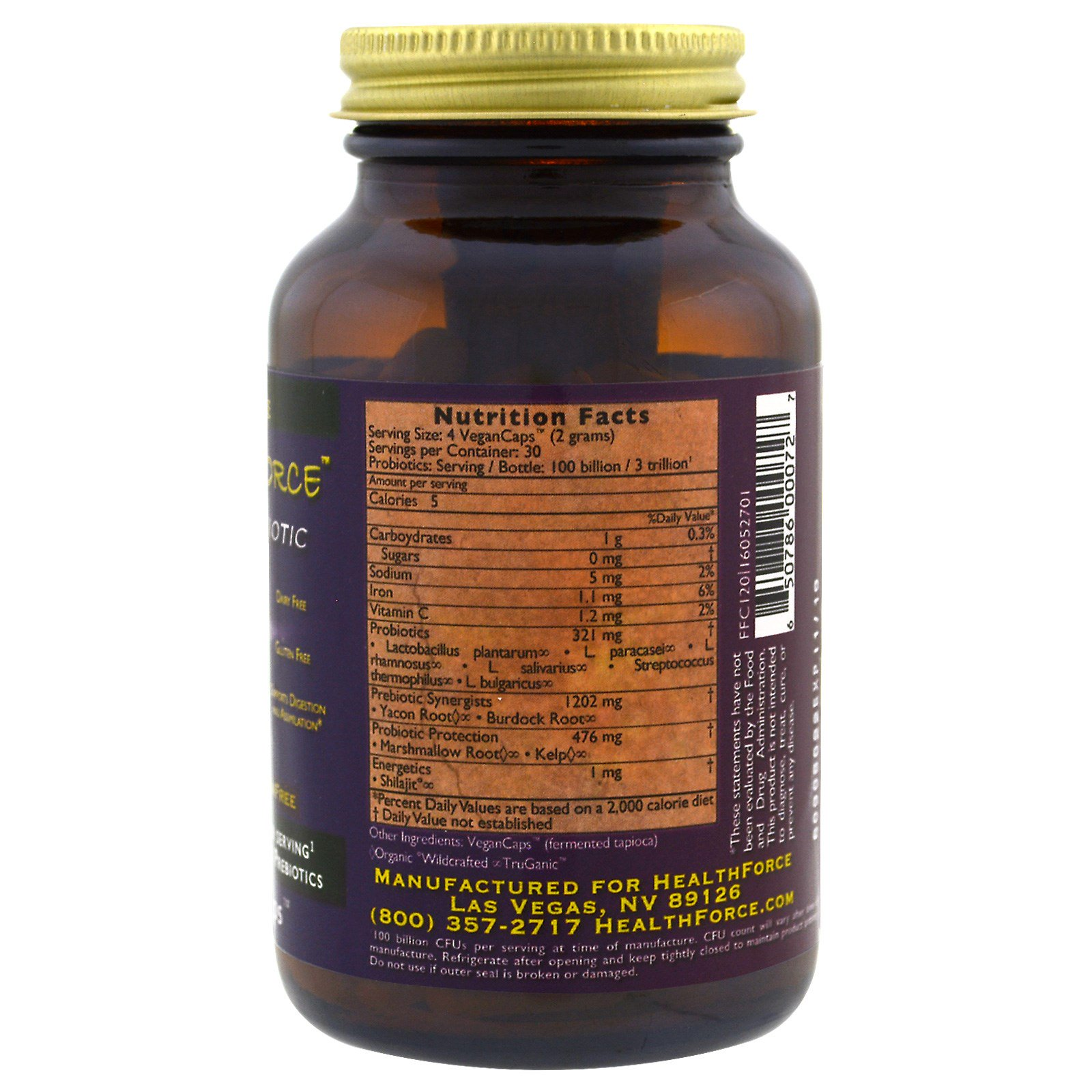 HealthForce Superfoods, Friendly Force, The Ultimate Probiotic, 120 ...