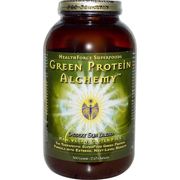 HealthForce Superfoods, Белковая смесь Green Protein Alchemy, Desert Sun Blend, 17,65 унций (500 г) (Discontinued Item)