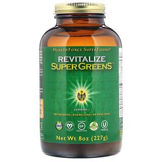 HealthForce Superfoods, Revitalize Super Greens, 8 oz (227 g)