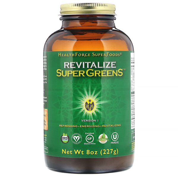 HealthForce Superfoods, Revitalize Super Greens, 8 oz (227 g)