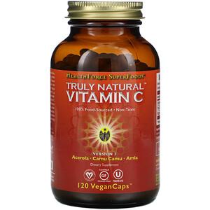 ХэлсФорс Нутришналс, Truly Natural Vitamin C, 120 Vegan Caps отзывы