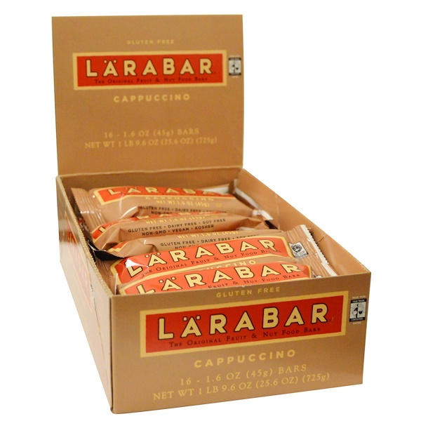 Larabar, カプチーノ、16本、各1.6オンス (45 g) (Discontinued Item)