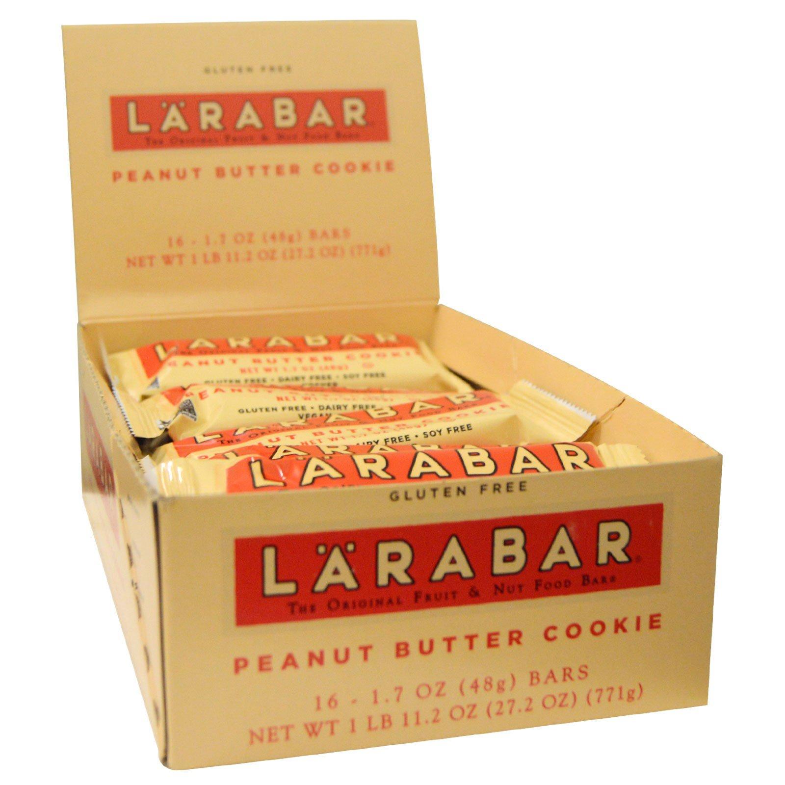 Larabar, Печенье с арахисовым маслом, 16 батончиков, по 1,7 унций (48 гр) каждый