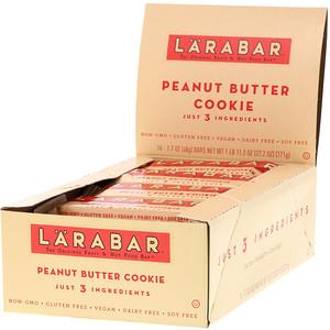 Ларабар, The Original Fruit & Nut Food Bar, Peanut Butter Cookie, 16 Bars, 1.7 oz (48 g) Each отзывы