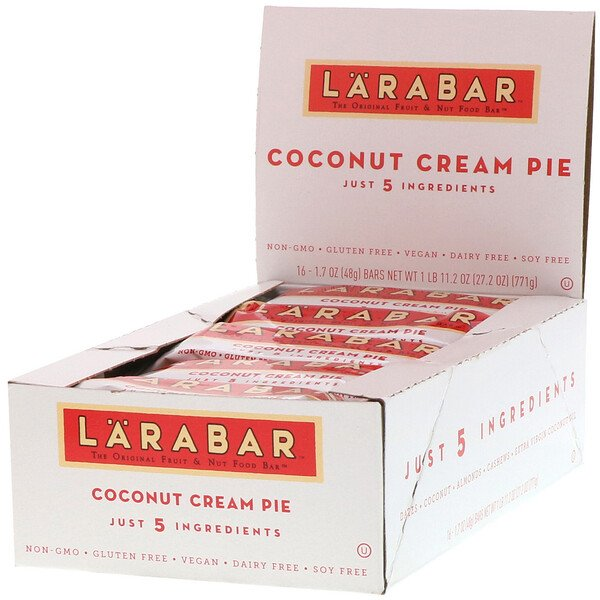 The Original Fruit & Nut Food Bar, Coconut Cream Pie, 16 Bars, 1.7 oz (48 g) Each