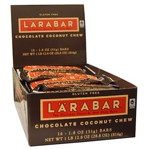 Ларабар, Chocolate Coconut Chew, 16 Bars, 1.8 oz (51 g) Per Bar отзывы покупателей