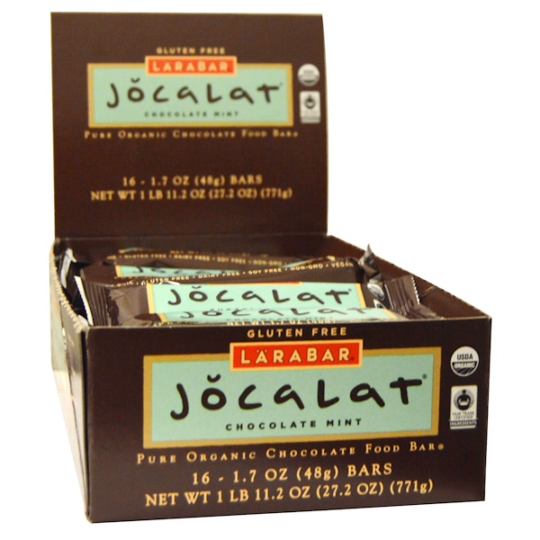 Larabar, Jocalat, Chocolate Mint, 16 Bars, 1.7 oz (48 g) Per Bar (Discontinued Item)