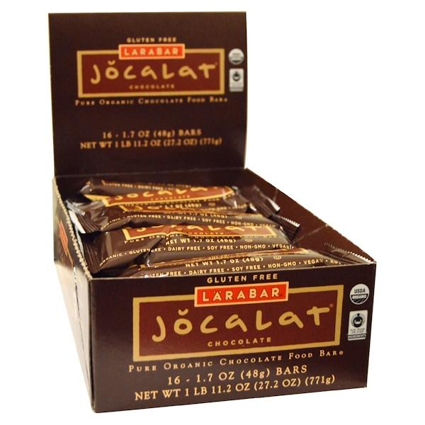 Larabar, Jocalat, Chocolate, 16 Bars, 1.7 oz (48 g) Each (Discontinued Item)