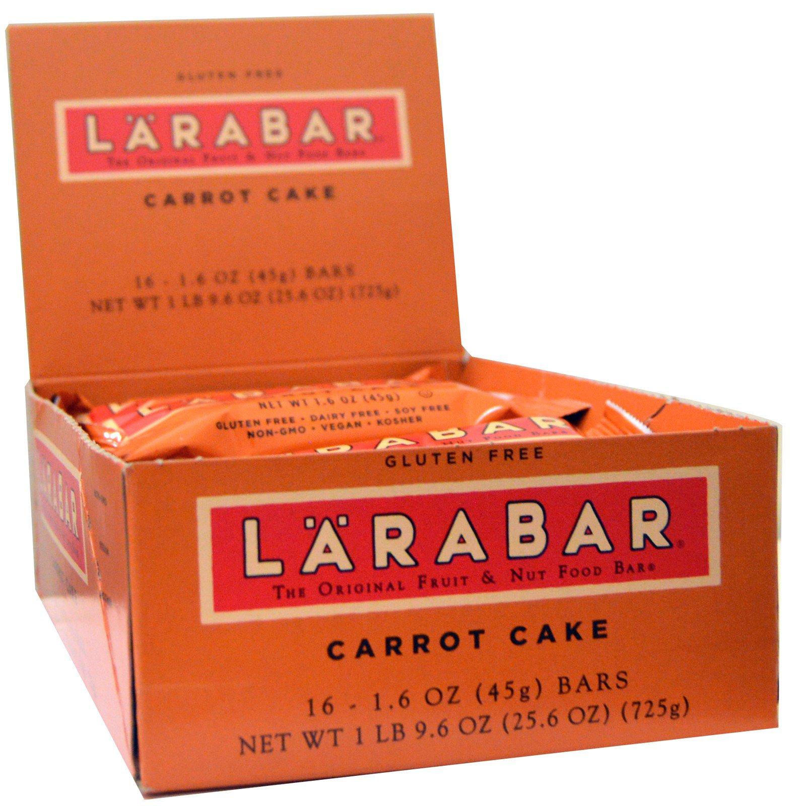 Larabar, 16 энергетических батончиков со вкусом морковного пирога по 45 г