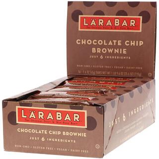 Larabar, The Original Fruit & Nut Food Bar, Chocolate Chip Brownie, 16 Bars, 1.6 oz (45 g) Each