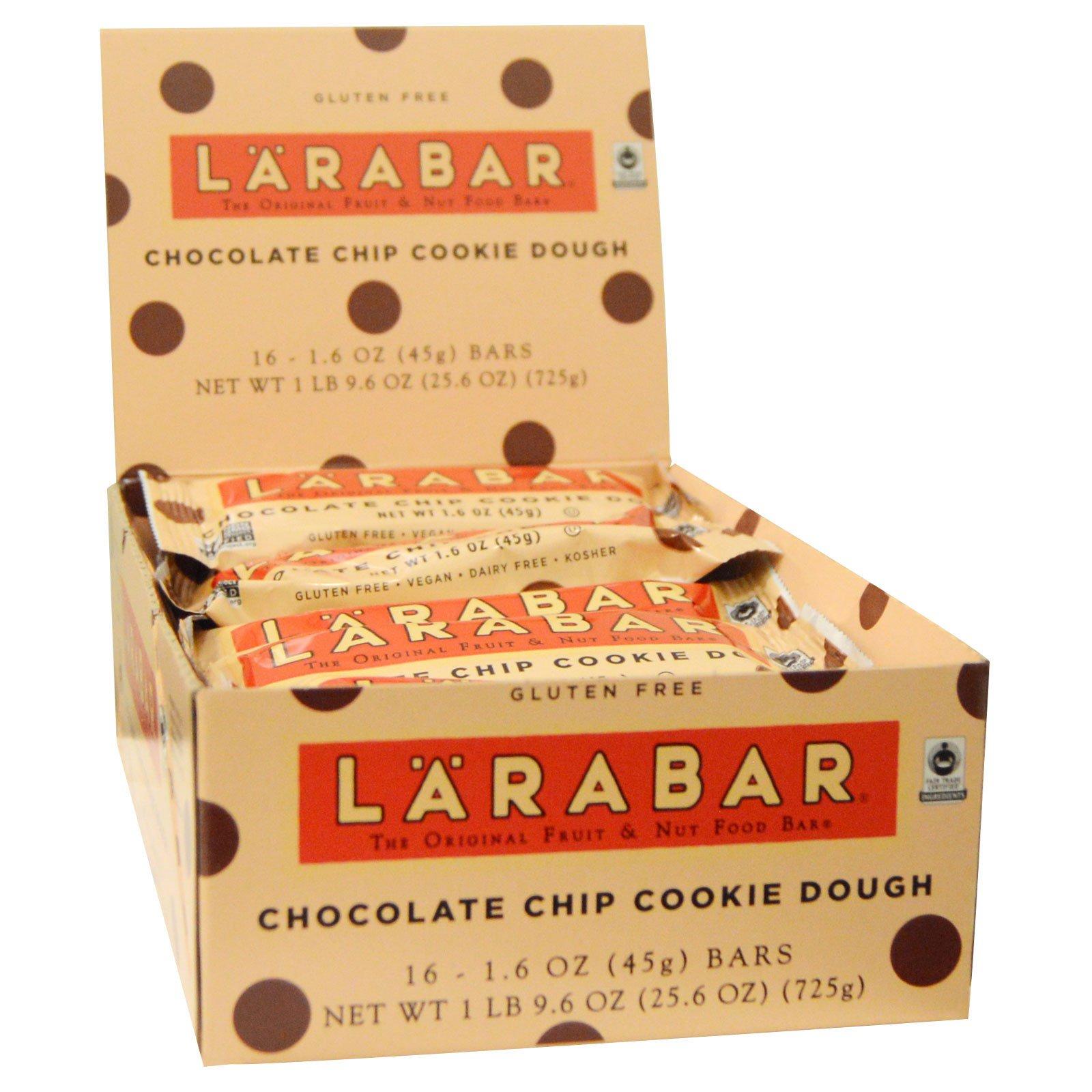Larabar, Батончики с шоколадной крошкой  Cookie Dough, 16 батончиков, 1.6 унций (45 г) каждый